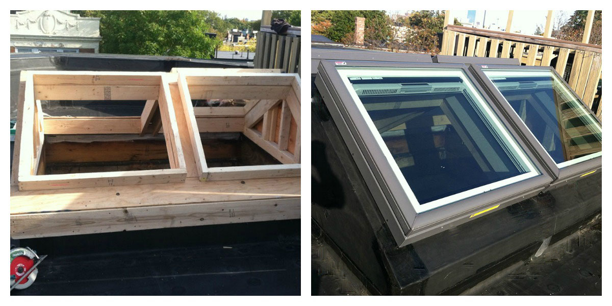 new skylights before & after, skylight installation natick, skylights can be installed anywhere, boston skylight installers