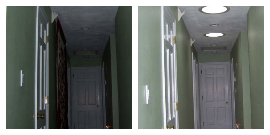 sun tunnels to brighten dark spaces, how to lighten dark hallways, sun tunnel installation, sun tunnels Natick