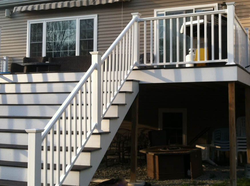 carpentry new deck and railing in boston